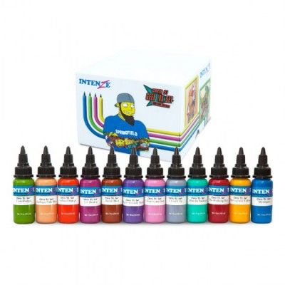 Intenze Ink - Chris 51 Geek Tattoo Ink Set