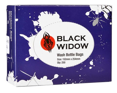 Black Widow Wash Bottle Bags - 152x254mm