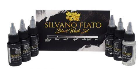 Silvano Fiato Black 6 Bottle Set World Famous Ink - 1oz
