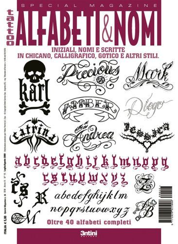 Lettering Tattoo Flash Book