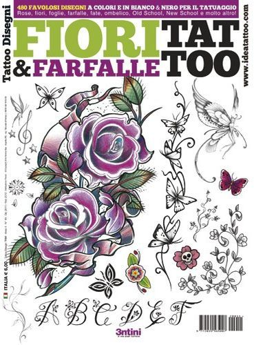 Flowers and Butterflies Tattoo Flash Book