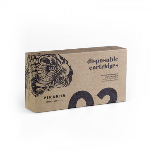 Piranha Straight Round Liner Cartridges (20 Per Box)