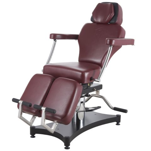 TATSoul 680 Oros Tattoo Client Chair - Ox Blood