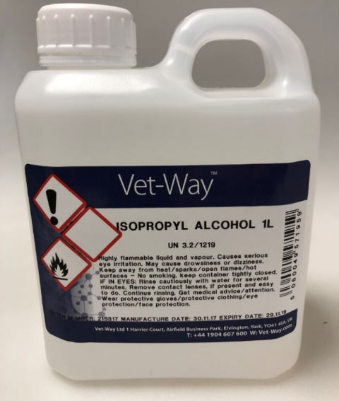 Isopropyl Alcohol - 1 Litre