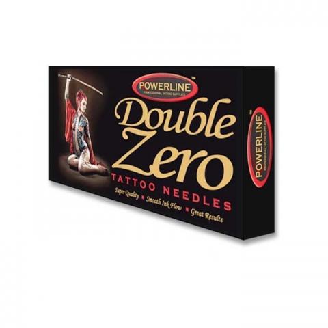 Powerline 10 Double Zero Round Shader Needle - Long Taper