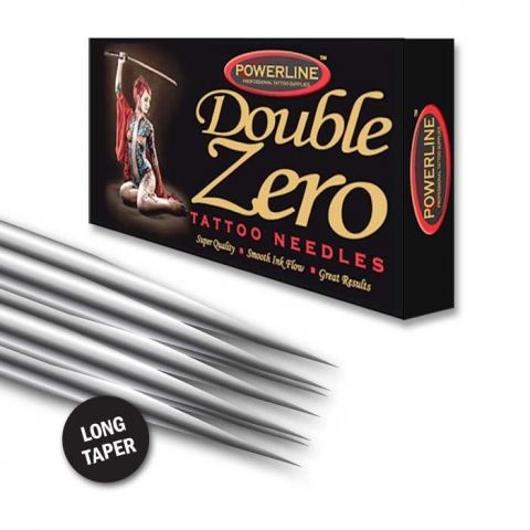 Powerline 10 Double Zero Curved Magnum Needle - Long Taper