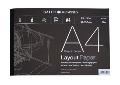 Layout Pad A4 80 sheets 45gsm