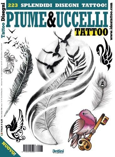 Fåglar och fjädrar Tattoo Flash Book