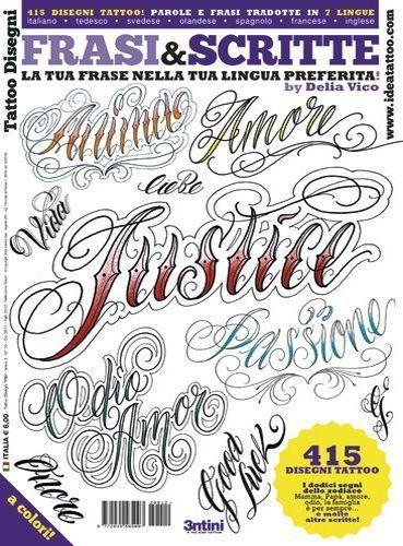 Bokstäver och Script Tattoo Flash Book