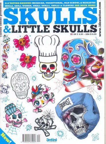 Skallar och Little Skulls Tattoo Flash Book