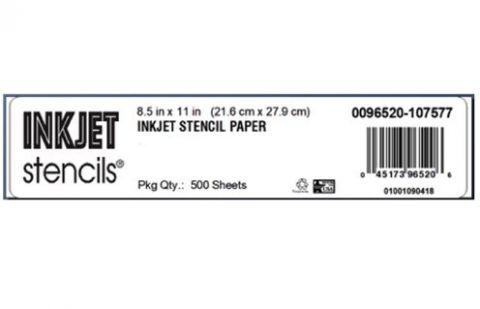 "Inkjet Stencil Paper 8.5 x11"" (A4) 500 sheets"