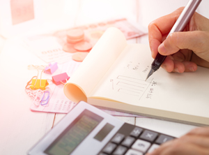 Making tax calculations using a calculator