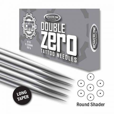 CNC 10 Double Zero Round Shader Needle - Long Taper