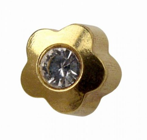Shapes Reg Gold Flowerlite with Crystal