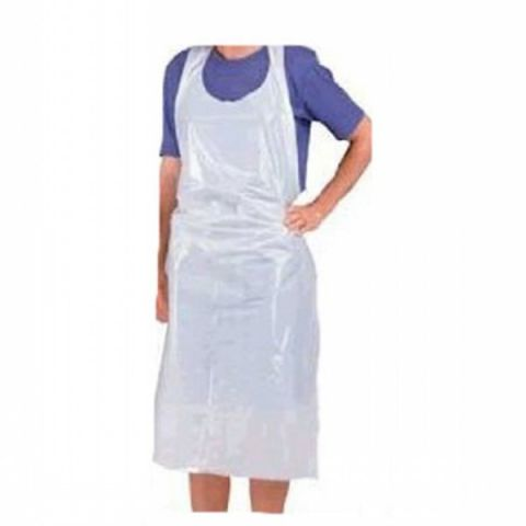 Aprons Disposable - White (Flat pack) - (100)