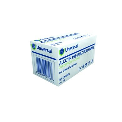 Alcotip Pre-Injection Swabs 3cm x 3cm (100)