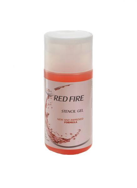 Red Fire Stencil Gel 125ml