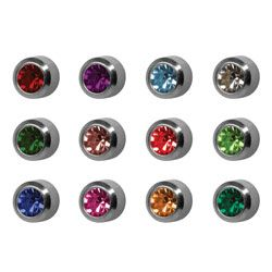 Reg Assorted bezel birthstones