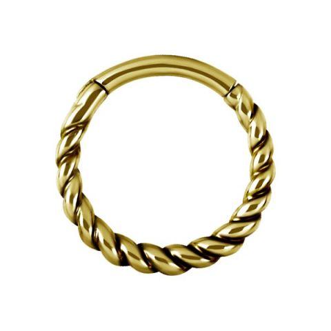 Hinged Segment Ring Gold Pattern