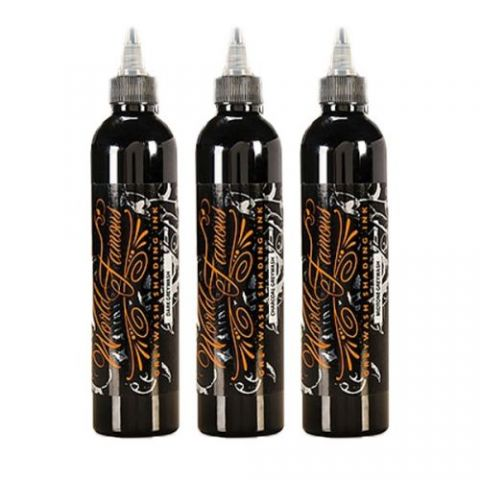 Charcoal Greywash 3 Bottle Set World Famous Ink - 4oz