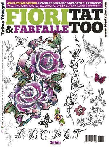 Flowers and Butterflies Tattoo Flash Book