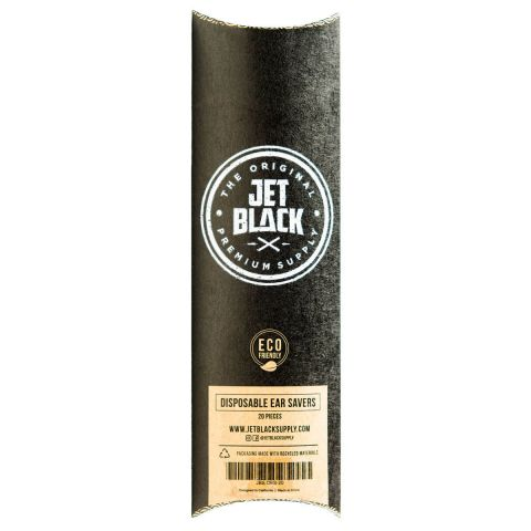 Jet Black - Disposable Ear Savers - 20 Pack