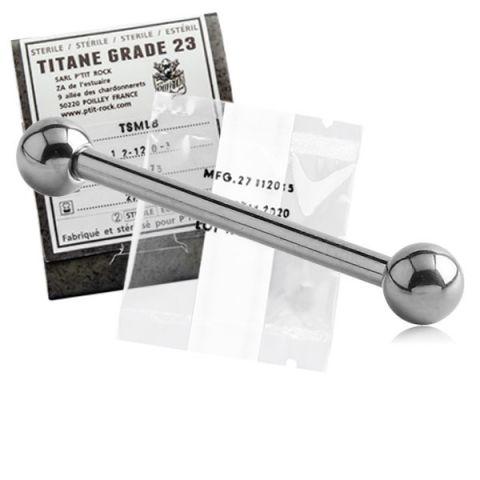 Titanium Straight Barbell Sterile