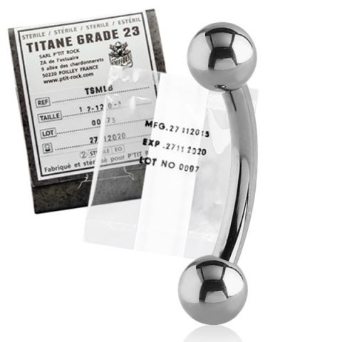 Titanium Micro Curved Barbell Sterile