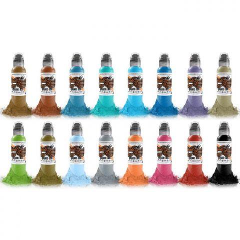 Sixteen Colour set #2 - 1oz - World Famous Inks