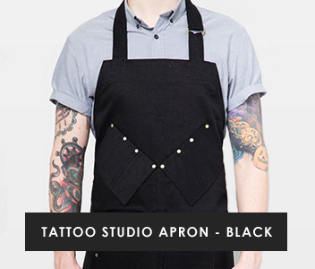 Tattoo Studio Apron - Black