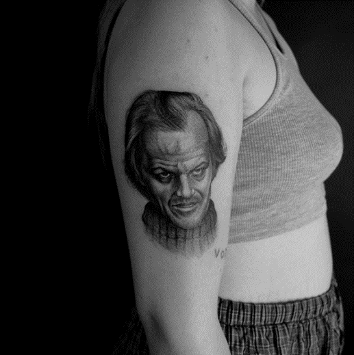 Johnny from The Shining & Witch Tattoo by xlxvxr as part of Barber DTS Halloween Blog