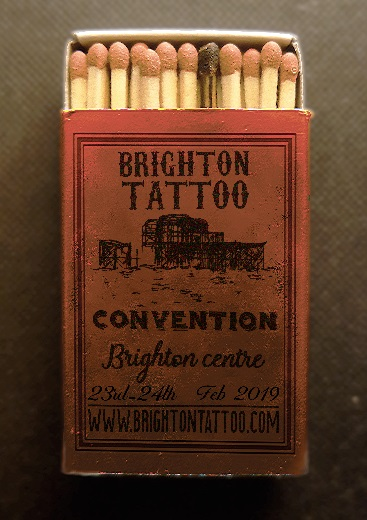 Brighton Tattoo Convention poster by Harry Robbins
