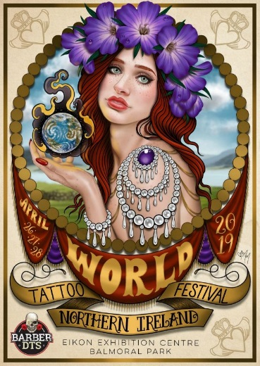 Poster for World Tattoo Festival by Megan Massacre